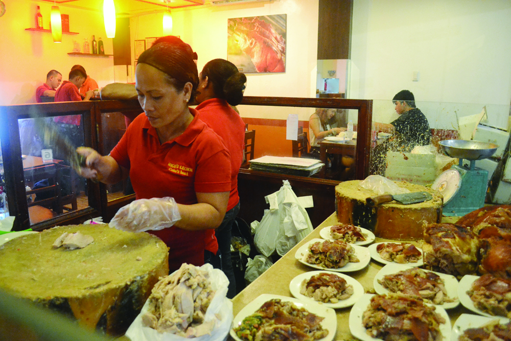 PLATES OF THE DAY. Rico's regulars may buy lechon by the kilo from its headquarters in Talamban, Cebu City, but diners are directed to its restaurant in The Ridges in Panagdait, Mabolo.