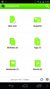 Evernote screencap