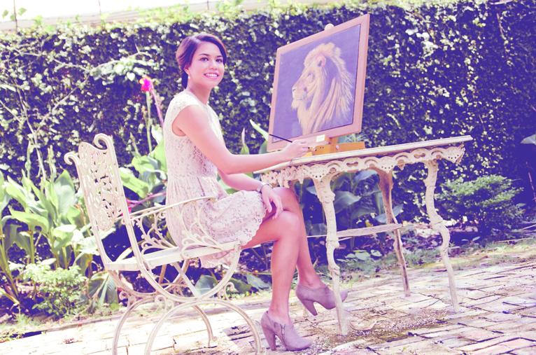 "DREAM GIRL. Hannah dreams of having an art school, where she can ""focus on art in whatever medium."""