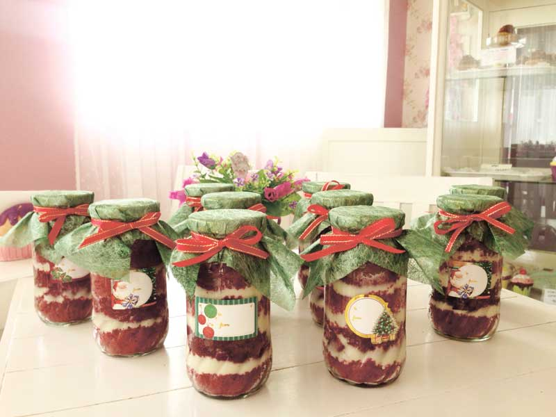"Perfect as giveaways and gifts is the ""Scarlette"" in a jar"