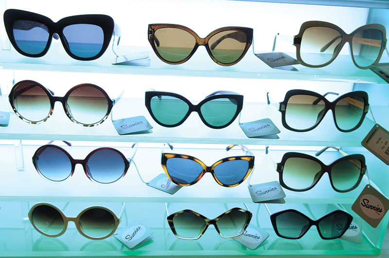 TRENDSETTING eyewear brand Sunnies by Charlie carries over 150 styles.