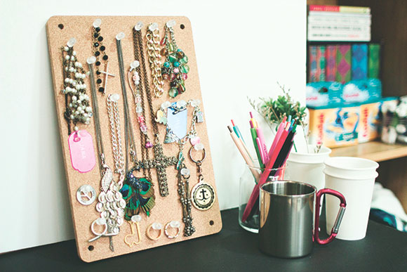 Make your own corkboard organizer Weekend