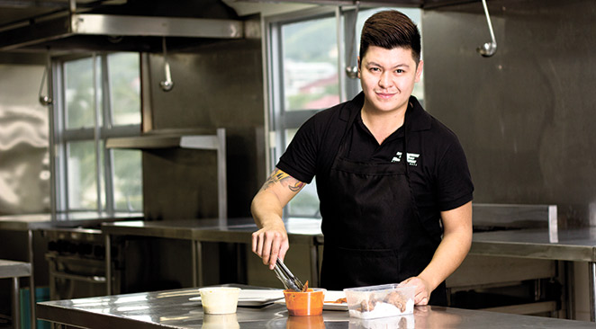 LIFE RECIPE. For chef Gino Ortiz, being creative in the kitchen is something he loves doing. Still, he urges aspiring chefs to never stop learning without forgetting the basics.