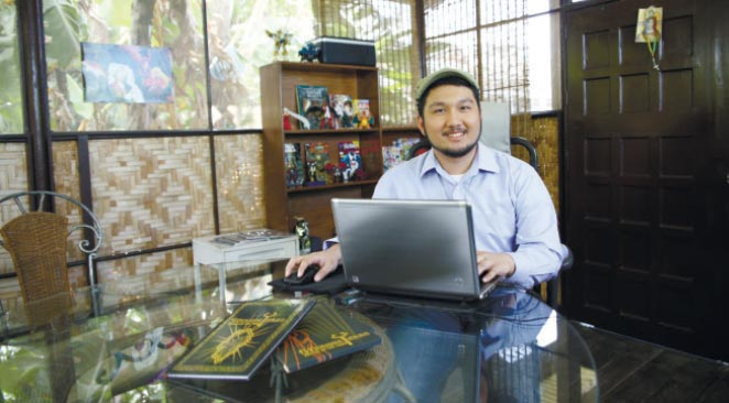 INSPIRATION. Lawrence Panganiban found his calling in the vibrant world of letters and graphics, and as he hones his craft further, he seeks to inspire others through his work, the way comic books, video games and anime shows inspired him early on.