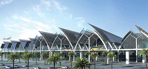 An artist's perspective of the new Mactan Cebu International Airport to be built by GMR-Megawide.