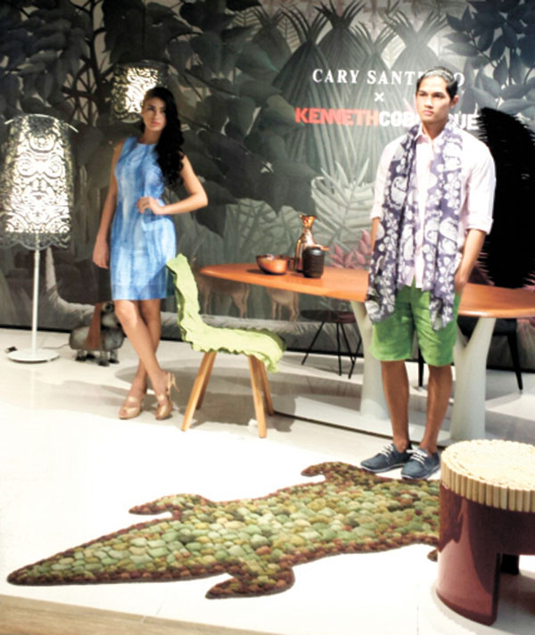 Collaboration between world-renowened designers Cary Santiago for fashion and Kenneth Cobonpue for furniture.