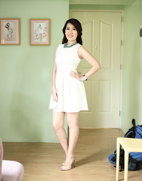 BRIDAL WAVE. White Label Bridal's Valerie Yap is making many a bride happy with affordable ready-to-wear bridal gowns.