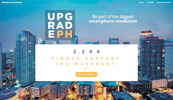 Screenshot of Upgrade Philippines website page