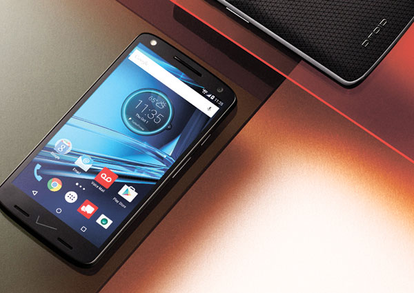 MOTOROLA DROID TURBO 2. Motorola replaced glass with various forms of plastic to make its 5.4-inch screen shatter-proof. The glass can crack if it hits a hard surface with enough force. (AP PHOTO)