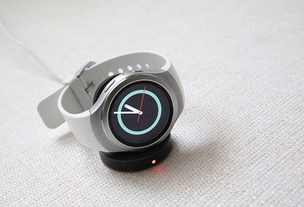 SAMSUNG GEAR S2. Samsung smartwatches have improved tremendously. Instead of swiping through screen after screen, you now rotate the Samsung's Gear S2 smartwatch's circular outer ring to select apps or view notifications. (AP PHOTO)