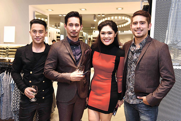 H&M-Head-of-Communications-and-Press-Dan-Mejia,-AJ-Dee,-H&M-Showroom-Manager-Nikki-Verzo,-and-Gerald-Anderson