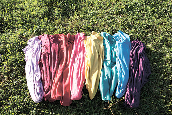 These all-weather infinity scarves can be worn in eight ways, from a cocoon cardigan and throw-on vest to a wrap skirt or Grecian dress.