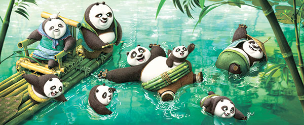 "A scene from ""Kung Fu Panda 3. (AP PHOTO)"