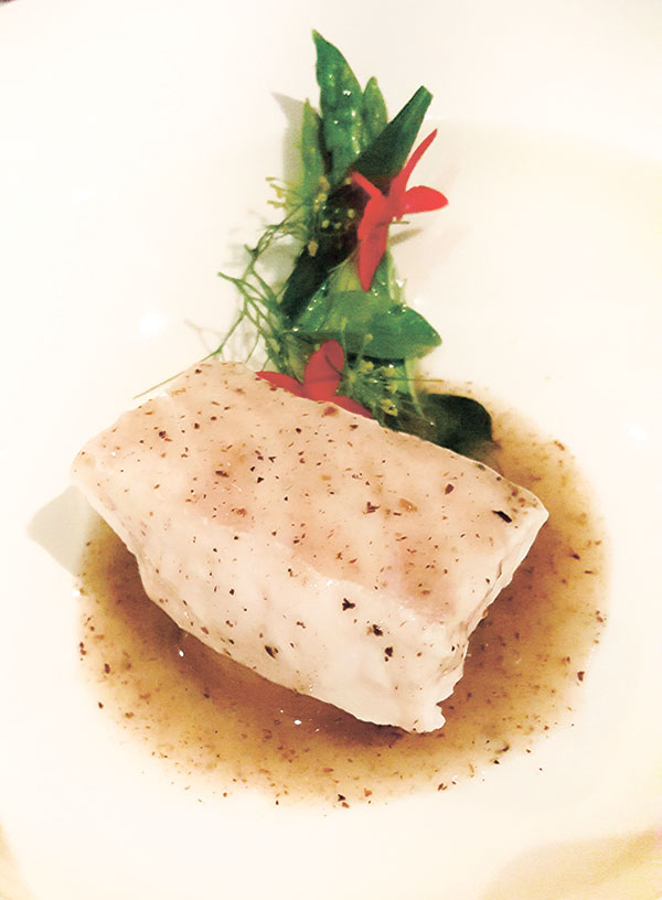 Poached Red Grouper and White Radish with Green Asparagus and Black Truffle Sauce (Photo by N.S. Villaflor)