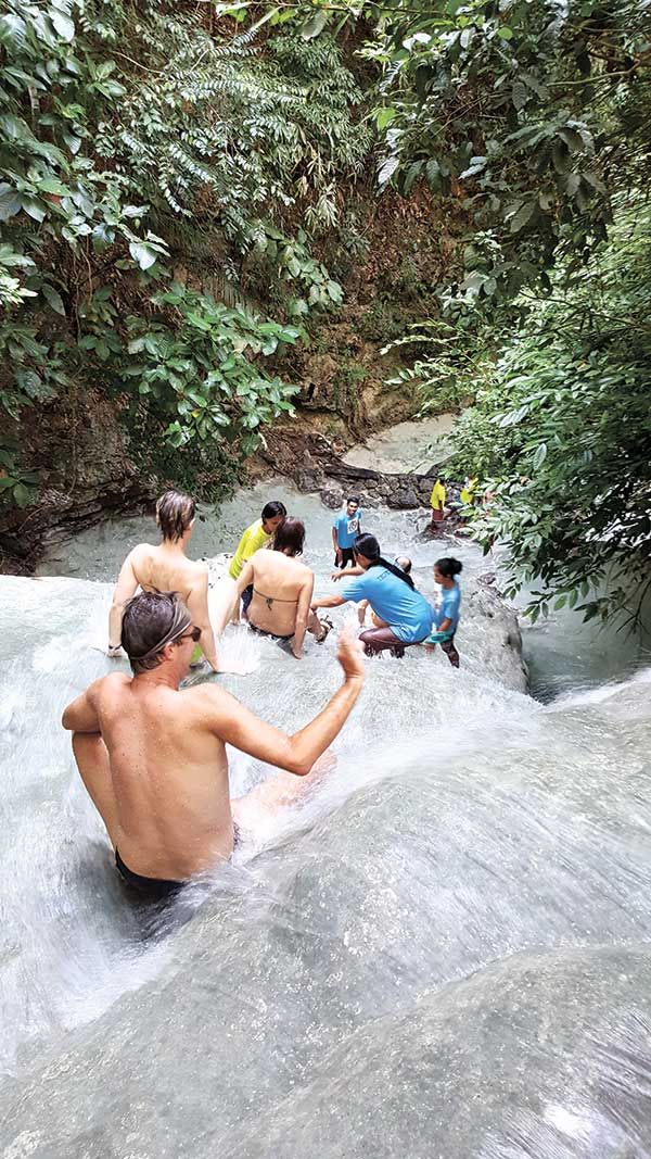AGUINID ADVENTURE. With numerous cascades, Aguinid Falls offers an exhilarating experience to the adventurous, young and old. The well-trained and attentive guides will do their best to keep you safe every step of the way.