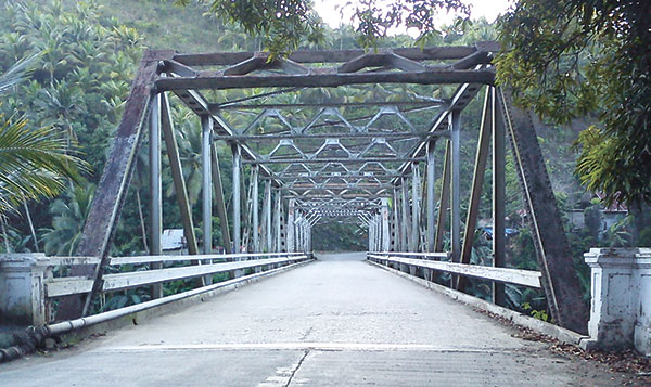 An old steel bridge in Asturias town in Cebu