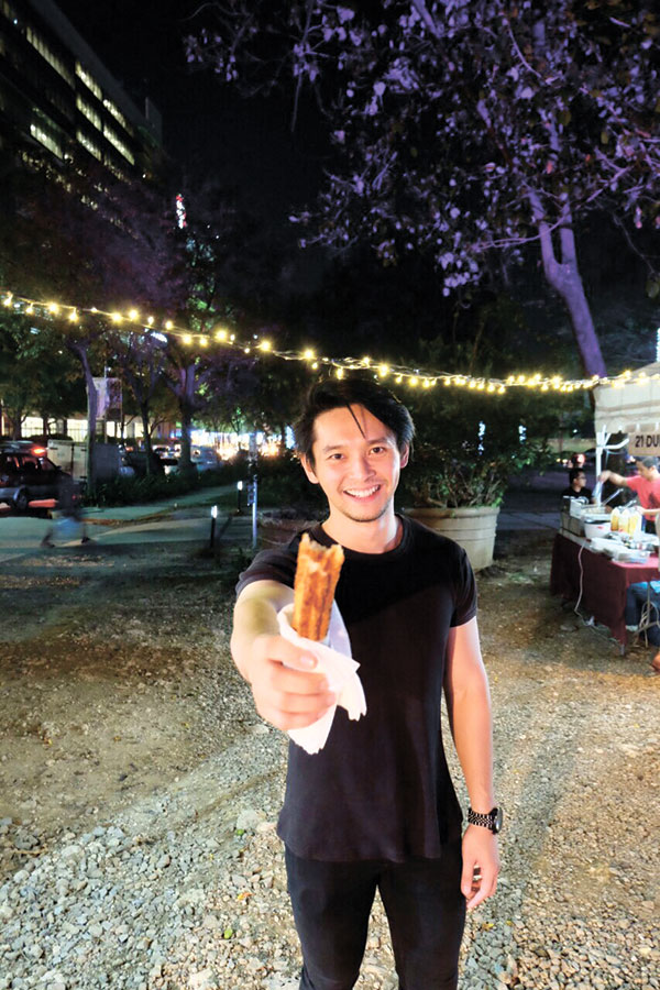 Papa Churros — Big Papa (one of Sugbo Mercado's owners Michael Karlo Lim) with a Big Papa Churro from Papa Churros!