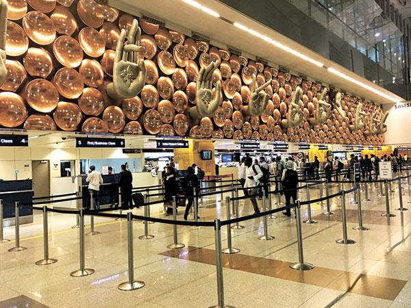 The Indira Gandhi International Airport's Immigration Gate. Stunning!