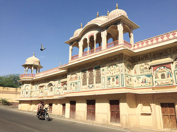 The Jainism Temple across Magan Singh's house.