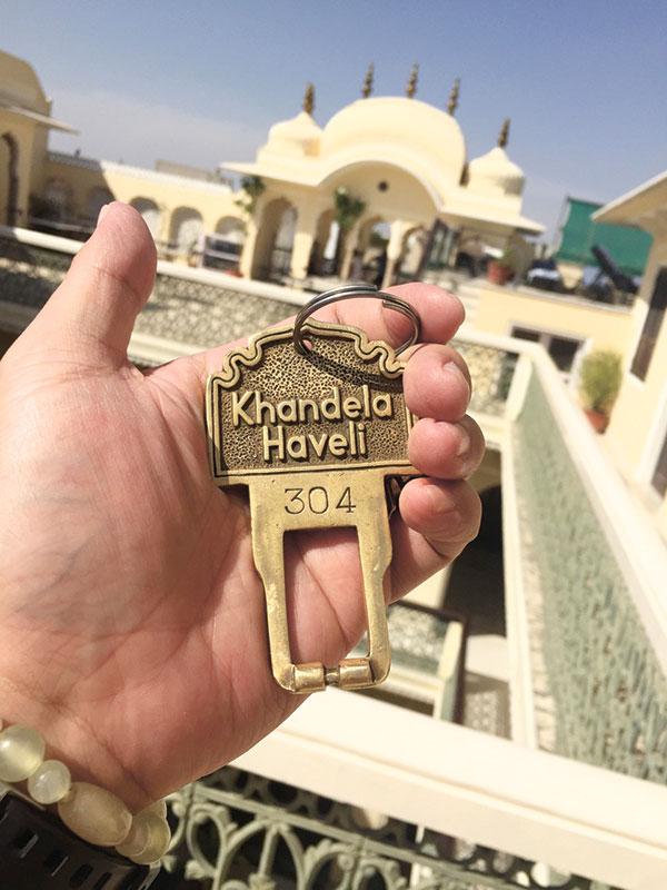 On the third floor of our beautiful hotel in Jaipur, Khandela Haveli.