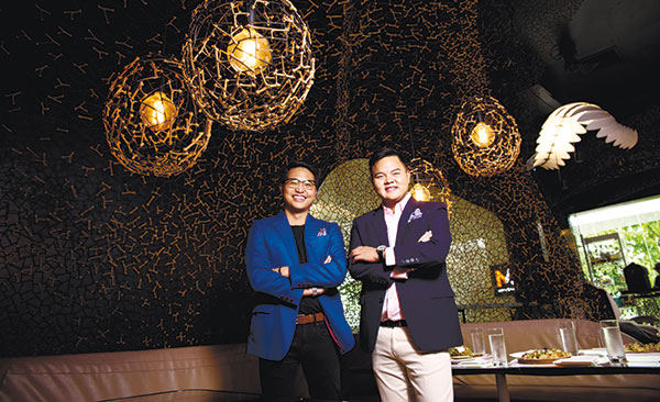 ON A MISSION. As the millennial half of the four owners of Cebu's newest watering hole Morals & Malice, Joseph Michael Yu (left) and Paco Rodriguez add a youthful vibrancy and dynamism to the cafe and bar scene in Cebu and take it to new heights.
