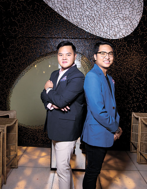 DETERMINED DUO. While the two share the same passion and vision as entrepreneurs, Paco and Michael each has special skill sets that come into play in running the world-class watering hole. Paco handles the marketing and PR aspects of Morals & Malice, while Michael takes care of the operations and finance side.