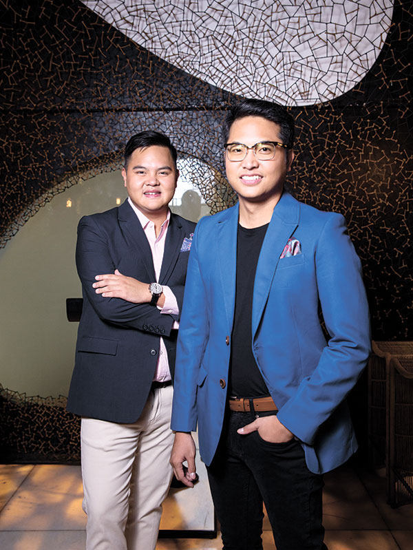 KEY ROLES. Meet Paco Rodriguez and Joseph Michael Yu, two young entrepreneurs who play key roles in Cebu's newest watering hole that's considered a haven for both bar aficionados and coffee lovers.