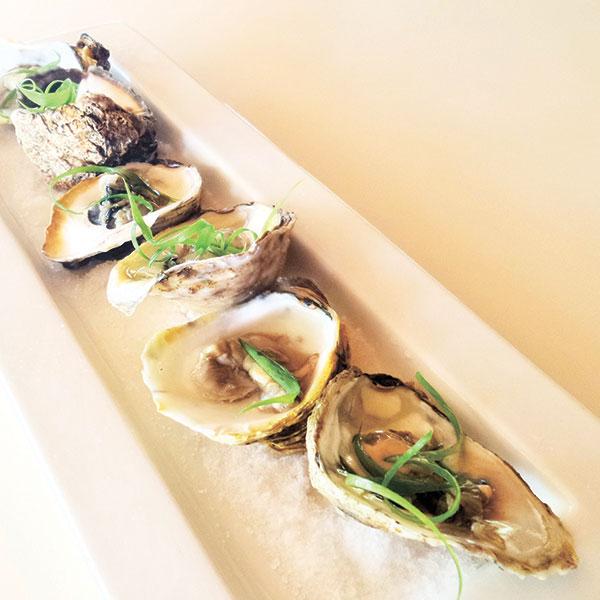 Panglao Oysters with Kaffir Lime Granita
