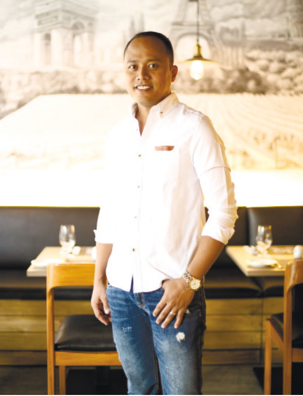 """VALUE-ADDED. After fruitful years overseas, Aris Solante brings home valuable experience as he ventures into the restaurant scene, offering """"five-star quality and service for less."""""""