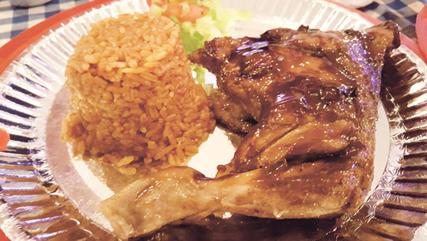 El Taquito's Roast Chicken with Mexican Rice