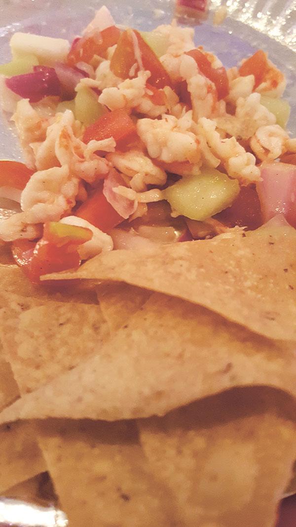 El Taquito's Shrimp Salad with Tacos
