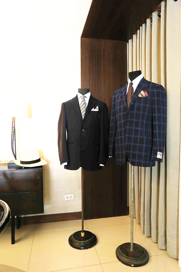 On display at The Alcoves showflat, Ring Jacket suits offer unparalleled style and comfort, perfect for the country's unpredictable weather.