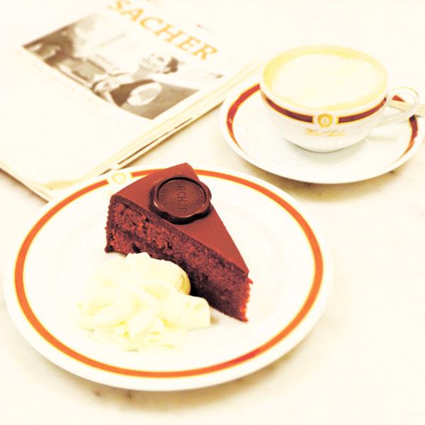 The Original Sacher Torte with Kaffe Wiener Melange