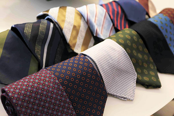Luxurious ties like these silk pieces from Tie Your Tie are light yet add volume.