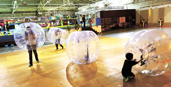 Getting ready for some Bubble Soccer. (PHOTO BY NSV)