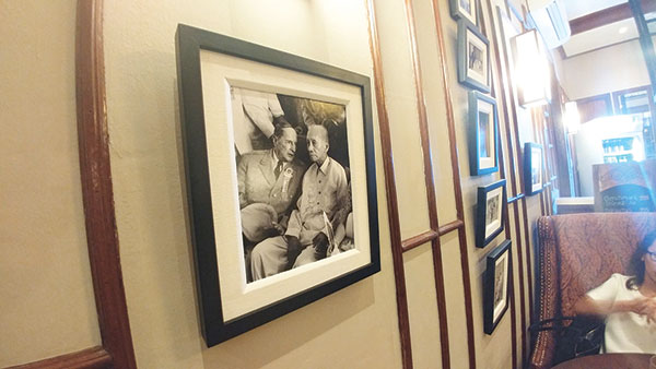 General Douglas Mc Arthur and Sergio Osmeña Sr. photographed talking in this very house.