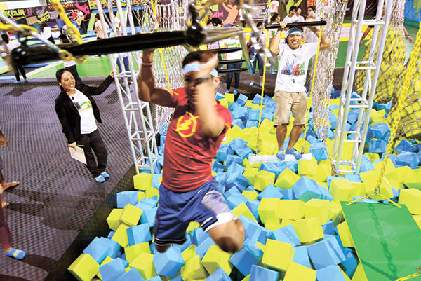 Ninja Warrior obstacle course. (PHOTO BY ALLAN CUIZON)