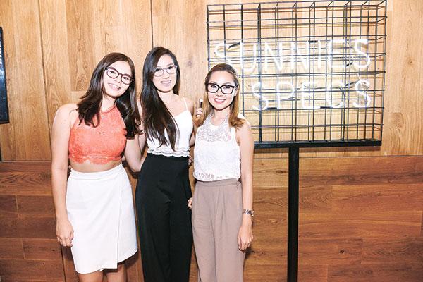 Alyssa Sacal, Kristina Monsanto and Patrice Uytengsu