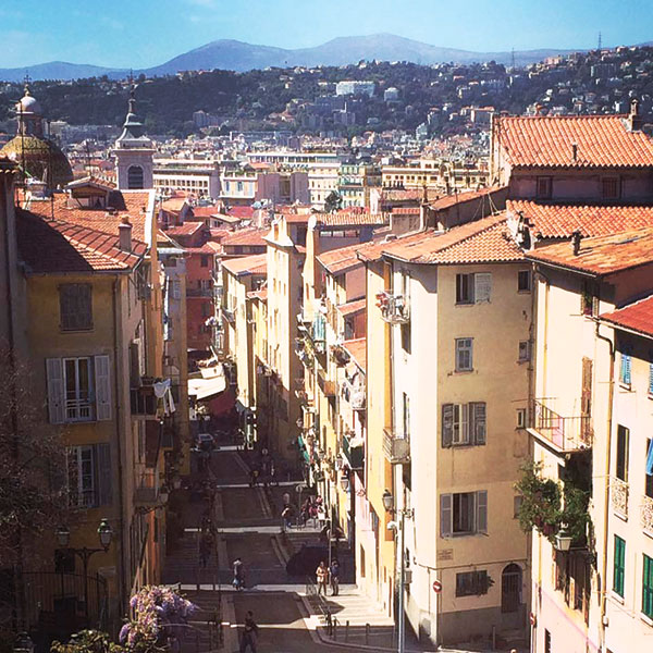 An old district in the southeastern town of Nice