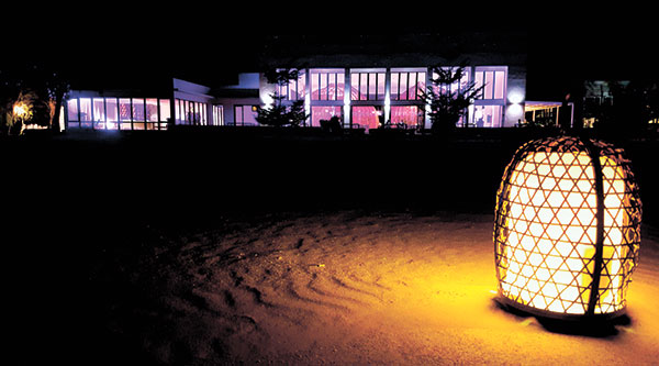 Kusina Restaurant after dark