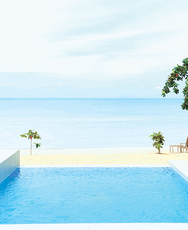 SEA OF SERENITY. A view of the Visayan Sea from one of Kandaya Resort's seven Ocean Pool Villas, each with its own infinity pool.