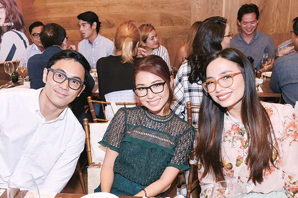 Slater Young, Kryz Uy and Sunnies Studios Creative Director Martine Cajucom