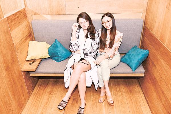 Sunnies Studios Marketing Director Georgina Wilson and Creative Director Martine Cajucom
