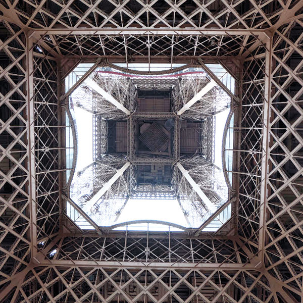 The Eiffel from underneath