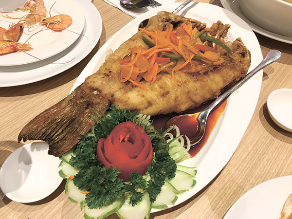 Deep Fried Grouper in Sweet and Sour Sauce