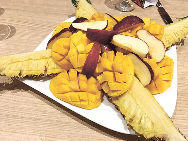 Fruit Platter for dessert!