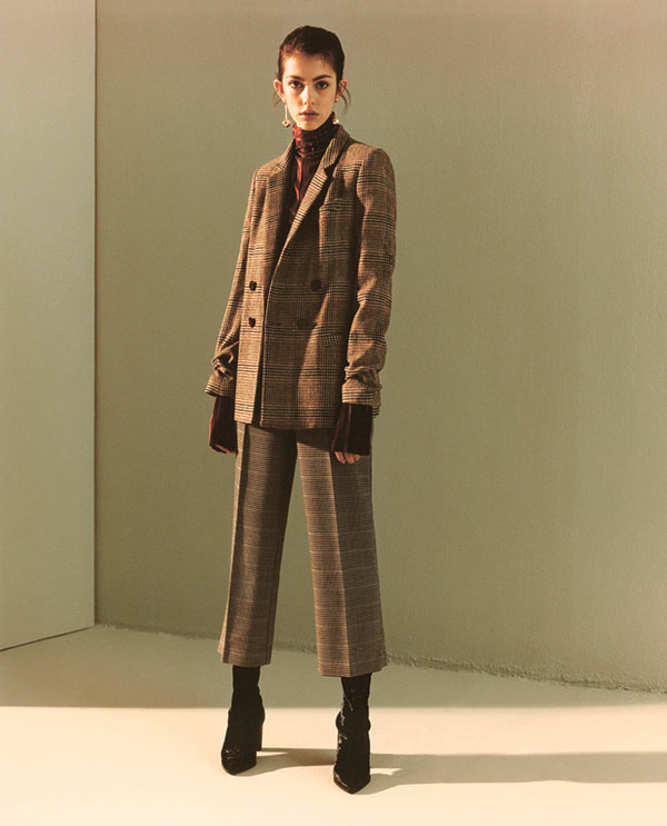 Tweed jacket and trouser coordinates