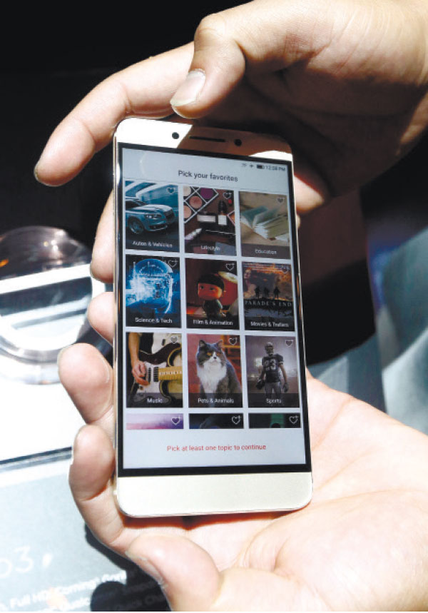 LEPRO 3. LeEco's LePro 3 has a 5.5-inch FHD screen and Snapdragon 821 chipset. (AP PHOTO)