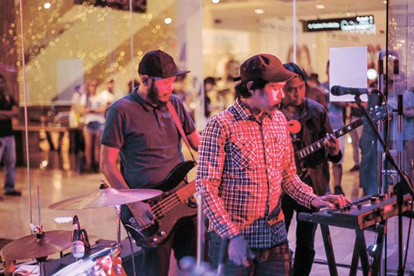 The Spirals bassist, Francis Rivas, synth player Bobby Olvido, and guitarist Filman Andaya Bonco